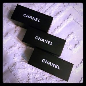 CHANEL bundle of three boxes